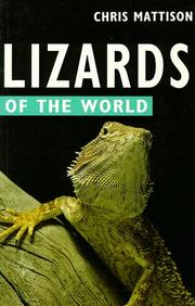 Cover of: Lizards of the world