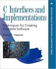 Cover of: C interfaces and implementations