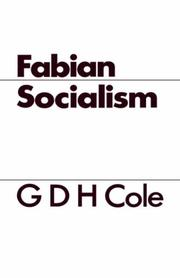 Cover of: Fabian Socialism | George Douglas Howard Cole