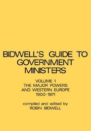 Cover of: major powers and western Europe, 1900-1971 | Robin Leonard Bidwell