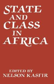 Cover of: State and class in Africa |