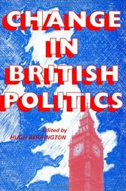 Cover of: Change in British politics