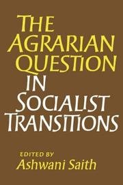 Cover of: The Agrarian Question in Socialist Transitions