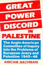 Cover of: Great power discord in Palestine