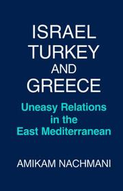 Cover of: Israel, Turkey, and Greece
