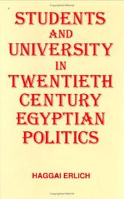 Cover of: Students and university in 20th century Egyptian politics