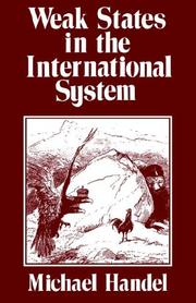 Cover of: Weak states in the international system