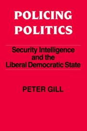 Cover of: Policing politics