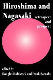 Cover of: Hiroshima and Nagasaki | D. Holdstock
