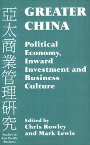 Cover of: Greater China | Chris Rowley