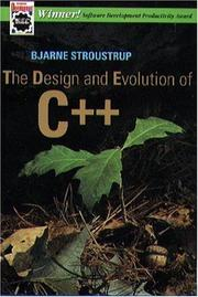 Cover of: The design and evolution of C[plus plus]