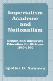 Cover of: Imperialism, academe, and nationalism
