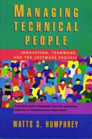 Cover of: Managing Technical People