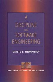 Cover of: A discipline for software engineering
