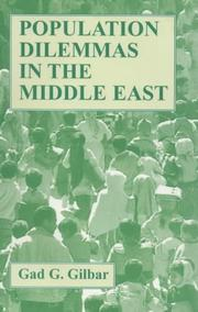 Cover of: Population dilemmas in the Middle East