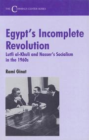 Cover of: Egypt's incomplete revolution