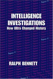 Cover of: Intelligence investigations