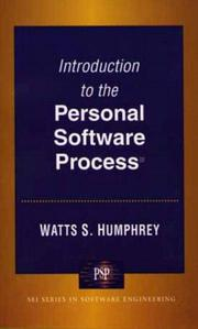 Cover of: Introduction to the personal software process