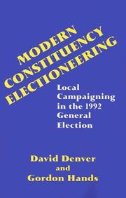 Cover of: Modern constituency electioneering | Denver, D. T.