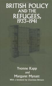 Cover of: British Policy and the Refugees, 1933-1941