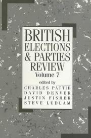 Cover of: British Elections and Parties Review (British Elections) | Charles Pattie