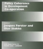 Policy Coherence in Development Co-operation (Eadi-Book Series, 22)