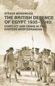 Cover of: The British Defense of Egypt | Steve Morewood