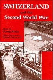 Cover of: Switzerland and the Second World War |