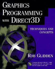 Cover of: Graphics programming with Direct3D by Rob Glidden