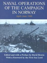 Cover of: Naval operations of the campaign in Norway, April-June 1940 |