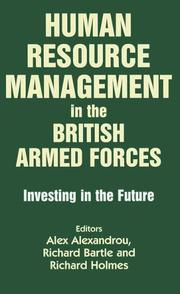 Cover of: Human Resource Management in the British Armed Forces | A. Alexandreou