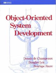 Cover of: Object-oriented system development