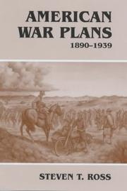 Cover of: American war plans, 1890-1939