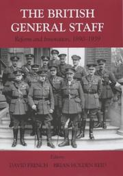 Cover of: British General Staff | David French