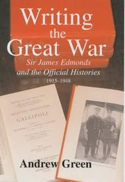 Cover of: Writing the Great War | Green, Andrew