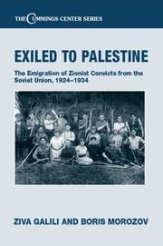 Cover of: Exile to Palestine | Ziva Galili