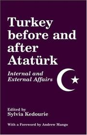 Cover of: Turkey Before and After Ataturk | S. Kedourie