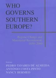 Cover of: Who governs Southern Europe? |