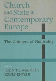 Cover of: Church and State in Contemporary Europe