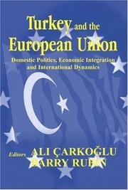 Cover of: Turkey and the European Union |
