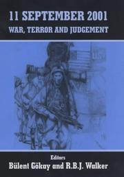 Cover of: 11 September 2001 War, Terror and Judgement