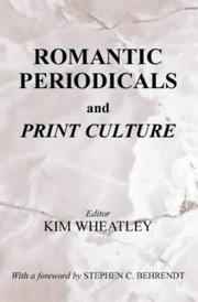 Cover of: Romantic periodicals and print culture