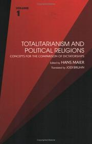 Cover of: Totalitarianism and Political Religions, Volume 1