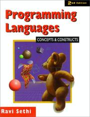 Cover of: Programming languages | Ravi Sethi
