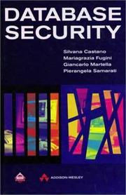 Cover of: Database Security (Acm Press Books)