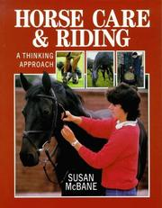 Cover of: Horse care & riding: a thinking approach