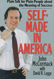 Cover of: Self-Made in America