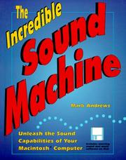 Cover of: The incredible sound machine