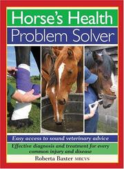 Cover of: Horses Health Problem Solver | Roberta Baxter