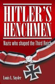 Cover of: Hitlers Henchmen